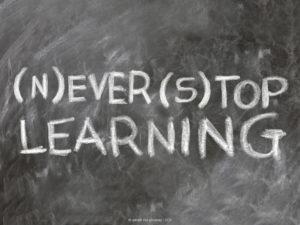Fortbildung heißt: (N)ever (s)top) learning (Bild: geralt via pixabay, CC0)